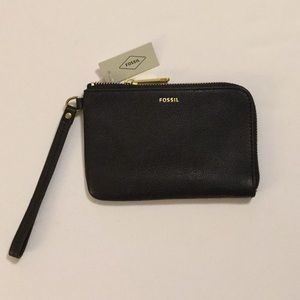 Fossil Tiegan Leather Wristlet